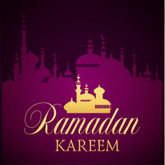 Ramadan Kareem greeting ornate background.