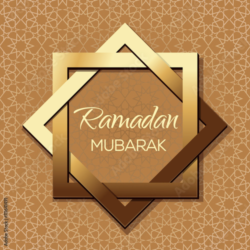 Islamic background arabic pattern and greeting inscription ramadan islamic background arabic pattern and greeting inscription ramadan mubarak ramadan greeting card vector m4hsunfo