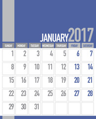 January 2017 Business Planner