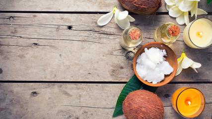 Coconut spa setting.