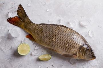 Delicious fresh fish (carp)