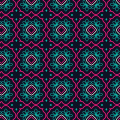 Seamless Floral Ethnic Pattern