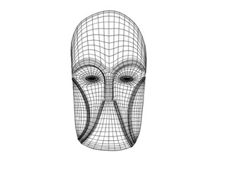 3d mask wireframe