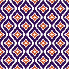 Tribal art ethnic boho seamless pattern. Ikat