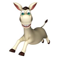 cute  Donkey funny cartoon character