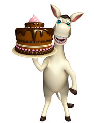 Donkey cartoon character Donkey cartoon character with cake