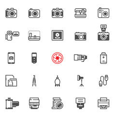 Camera icons with White Background