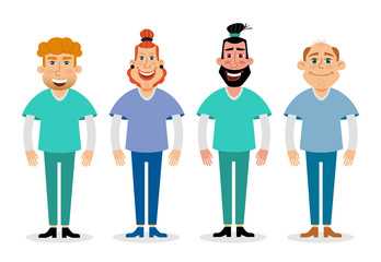 vector flat illustration of doctors. medical and healthcare concept.