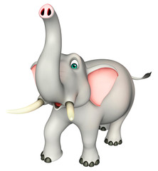 cute  Elephant funny cartoon character
