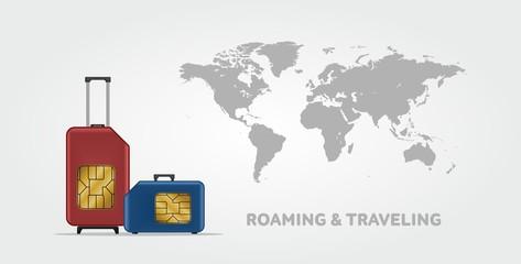 Travel SIM vector illustration.