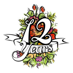 12 Years Greeting Card Design