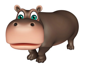 cute Hippo cartoon character