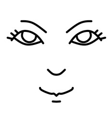 drawing face