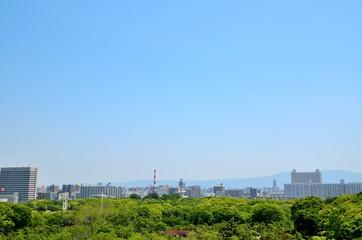 大阪城からの都市風景