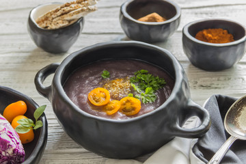 Soup puree of red cabbage