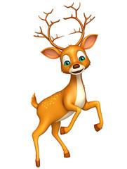 cute Deer funny cartoon character