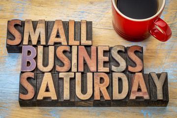 Small Business Saturday in wood type