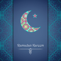 Vector greeting card to Ramadan