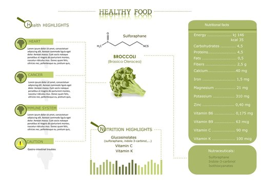 healthy food: broccoli, its compounds and properties