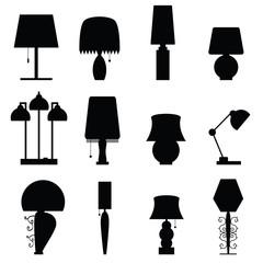 lamp furniture black illustration