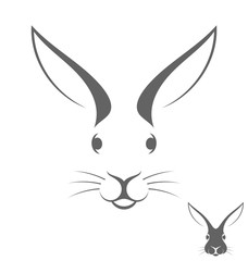Rabbit head. Logo