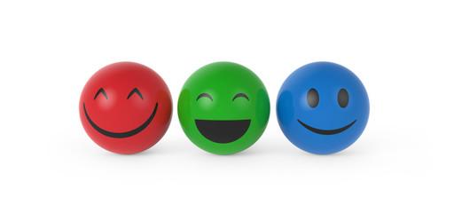 Smileys in RGB Farben