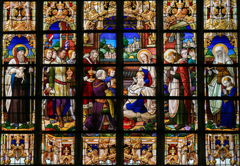 Fototapete - Stained Glass - Epiphany