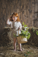 The girl with red hair with a basket 6132.