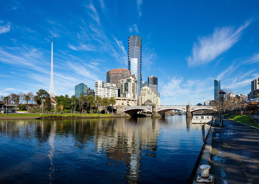 The Yarra River and southbank of Melbourne's CBD