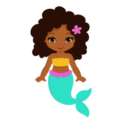 Cute little mermaid.Vector illustration.