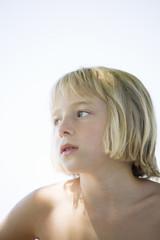 Portrait of a Scandinavian girl.