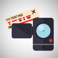 Travel design. Trip icon. Flat illustration