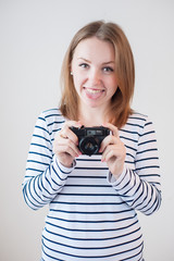 girl with the old camera