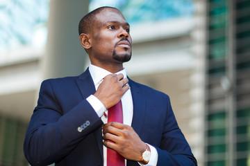 Portrait of a black businessman