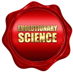evolutionary science, 3D rendering, a red wax seal