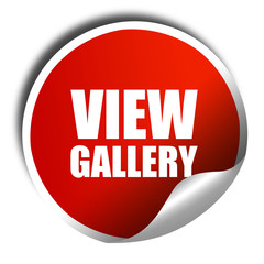 view gallery, 3D rendering, a red shiny sticker