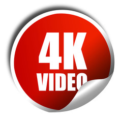 4k video, 3D rendering, a red shiny sticker