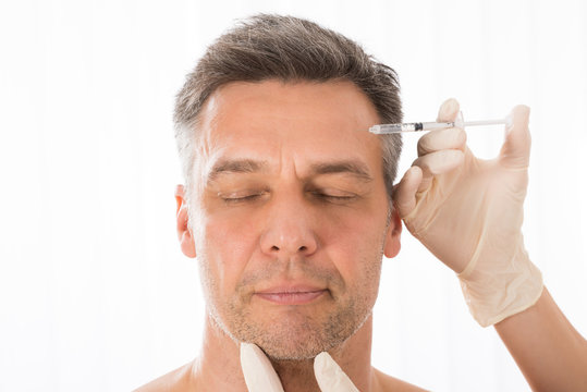 Mature Man Get Injection On His Face