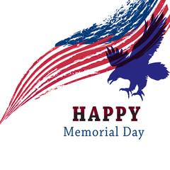 Happy Memorial day. Vector.