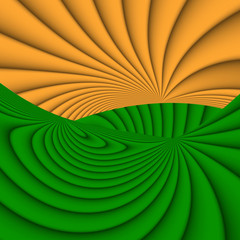 Orange and green colored background with stripes