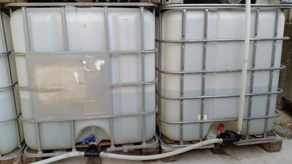 tanks for the collection of rainwater
