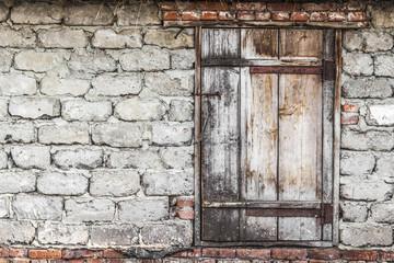The wooden door into the barn