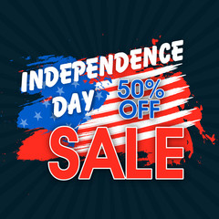 Sale Poster or Banner for 4th of July celebration.
