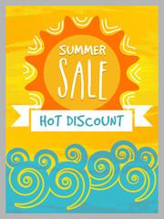 Summer Sale Banner, Poster or Flyer design.