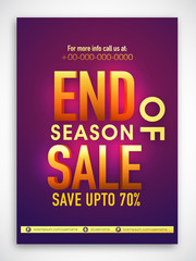 End Of Season Sale Banner, Poster or Flyer.