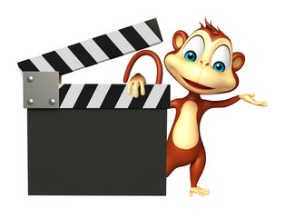 Monkey cartoon character with clapboard