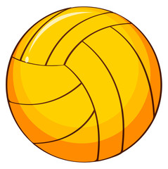 Single volleyball in yellow color