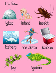 Many words begin with letter I