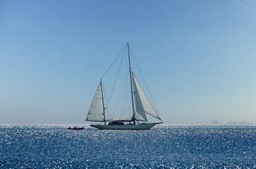 Yacht sailing in Mediterranean during summer