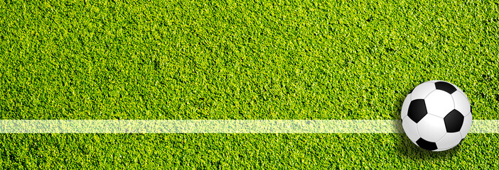 Panorama Fußball Seitenlinie
